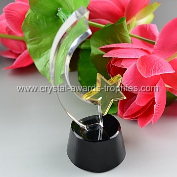 child star crystal award trophy